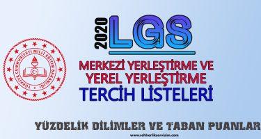 2020 LGS tercih listeleri